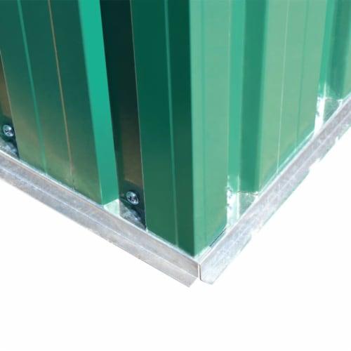 vidaXL Garden Storage Shed Green Metal 80.3 x52 x73.2 Perspective: right