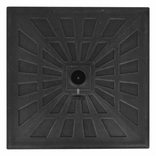 vidaXL Parasol Base Resin Square Black 41.9 lb Perspective: right