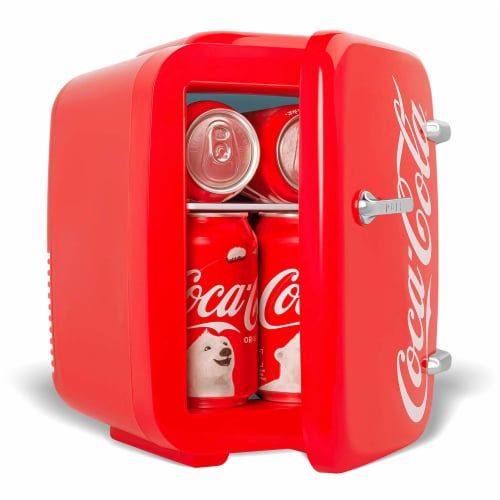 Cooluli Coca-Cola Vintage Chic 4 Liter Portable Compact Mini Fridge Perspective: right