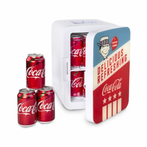 Cooluli Coca-Cola Americana 10 Liter Portable Compact Mini Fridge Perspective: right