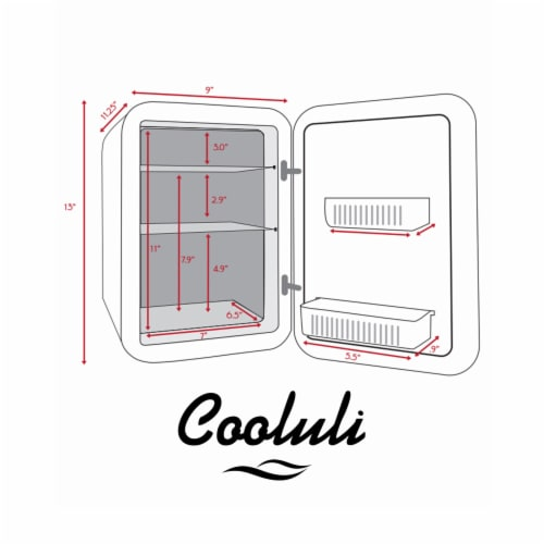 Cooluli Classic 15 Liter Portable Compact Mini Fridge - White Perspective: right