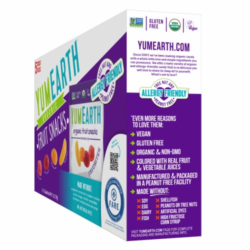 Yum Earth Organic Favorites Fruit Snacks Perspective: right