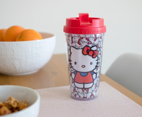 Hello Kitty Double Wall Plastic Travel Mug - 16 oz Perspective: right
