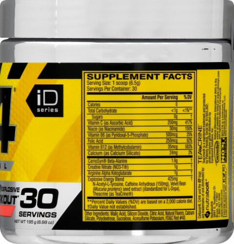 Cellucor C4® Cherry Limeade Pre-Workout Dietary Supplement Perspective: right