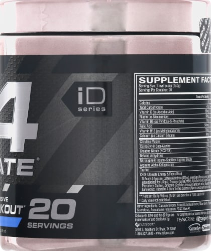 Cellucor C4 Ultimate Icy Blue Razz Pre-Workout Perspective: right