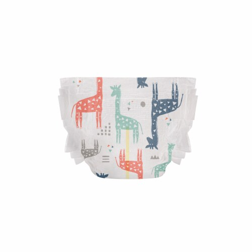 The Honest Co. Size 1 Teal Tribal + Space Travel Print Diapers Perspective: right