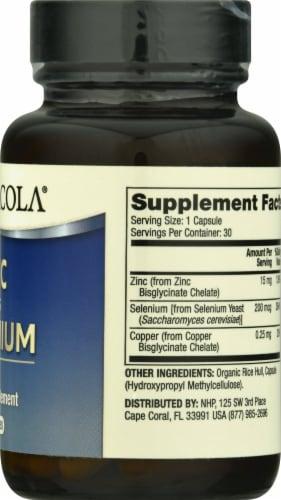 Mercola Zinc Plus Selenium Supplement Capsules Perspective: right