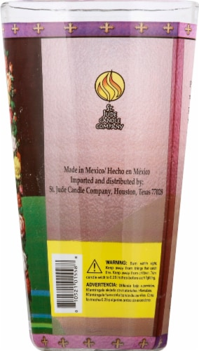 St. Jude Candle Company Virgin de Guadalupe Drinking Glass Candle Perspective: right