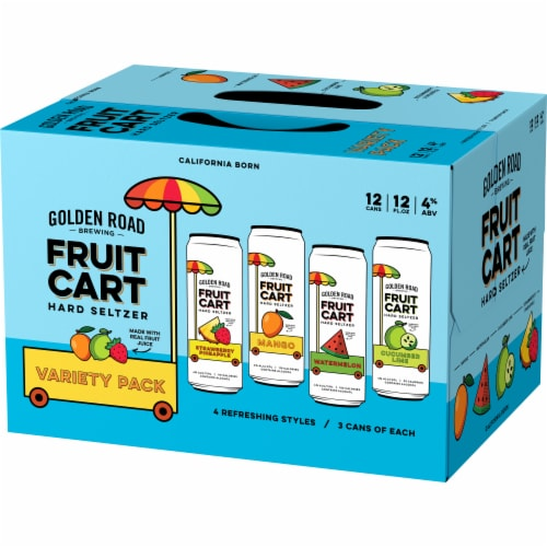 Golden Road Brewing Fruit Cart Hard Seltzer Variety Pack Perspective: right