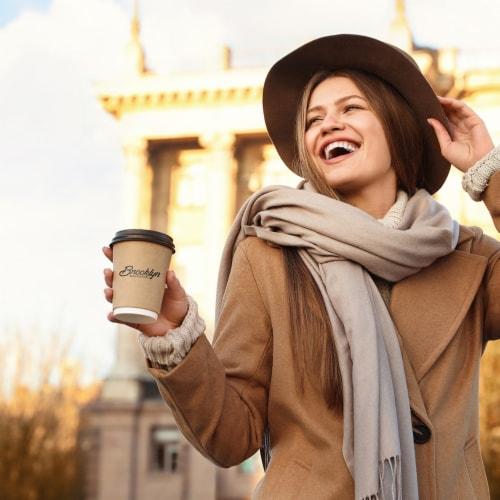 Brooklyn Beans Medium Roast Ground Coffee,  Brooklyn Bridge,  six-12 Ounce Bags Perspective: right