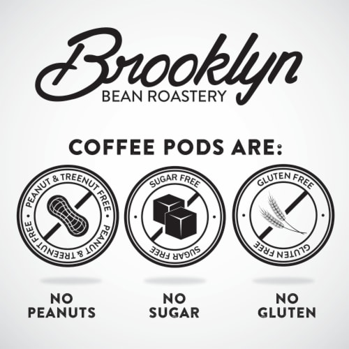 Brooklyn Bean Roastery Flavored Coffee Pods, Gingerbread Man, Four-24 Count Boxes Perspective: right
