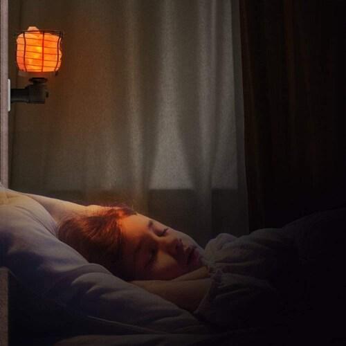 Himalayan Glow Basket Style Night Light, Warm Amber Glow, Himalayan Pink Salt Lamp | 2 Packs Perspective: right