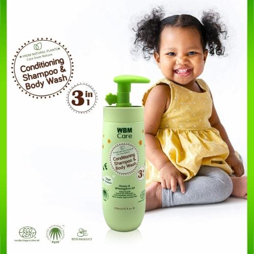 WBM Baby Care Body Wash, Hair Conditioning & Skin Moisturizing, Shampoo & Body Wash   10 Oz Perspective: right