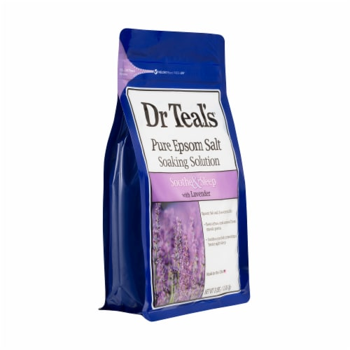 Dr Teal's Soothe & Sleep Pure Epsom Salt with Lavender Soaking Solution Perspective: right