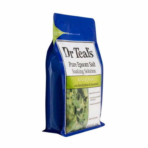 Dr Teal's Eucalyptus & Spearmint Pure Epsom Salt Bath Soak Perspective: right