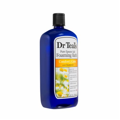 Dr Teal's Comfort & Calm Pure Epsom Salt Foaming Bath Wash Perspective: right