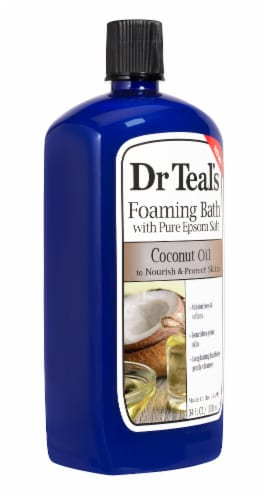 Dr Teal's Coconut Oil Foaming Bath With Pure Epsom Salt Perspective: right
