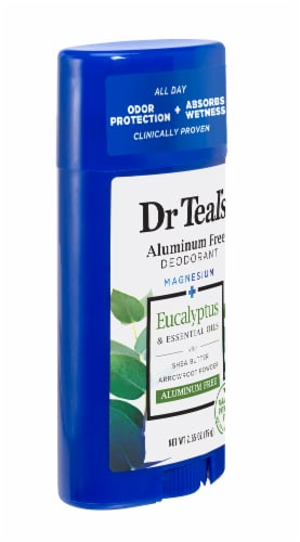 Dr Teal's Eucalyptus Spearmint Aluminum-Free Deodorant Perspective: right