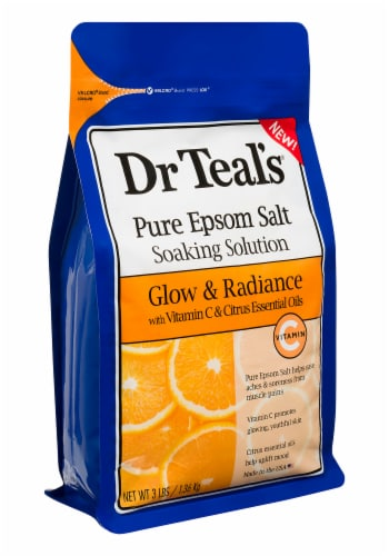 Dr Teal's Glow & Radiance Pure Epsom Salt Soaking Solution Perspective: right