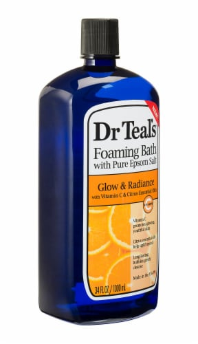Dr Teal's Glow & Radiance Foaming Bath with Pure Epsom Salt Perspective: right
