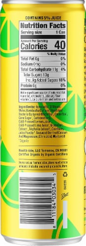 Health-Ade Lemon + Lime Booch Pop Perspective: right