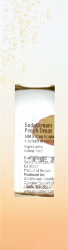 SodaStream Peach Drops Unsweetened Natural Flavor Essense Perspective: right