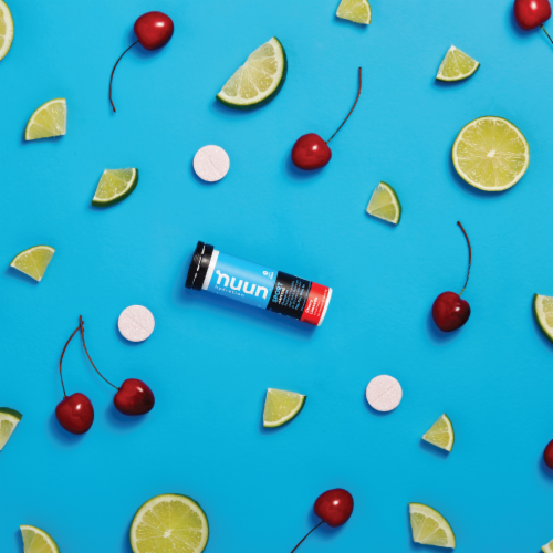 Nuun Hydration Sport + Caffeine Cherry Limeade Effervescent Electrolyte Supplement Tablets Perspective: right
