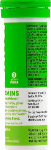 Nuun Hydration Tangerine Lime Effervescent Vitamin Supplement Tablets Perspective: right