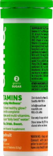 Nuun Hydration Grapefruit Orange Effervescent Vitamin Supplement Tablets Perspective: right