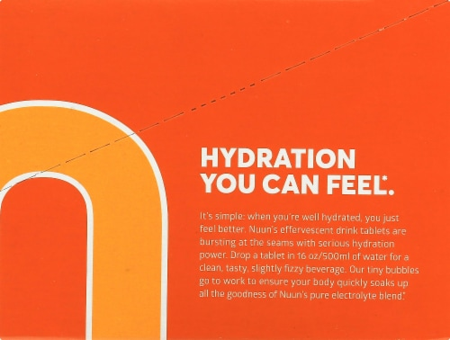 NUUN Hydration Orange Citrus Immunity Drink Tablets Perspective: right