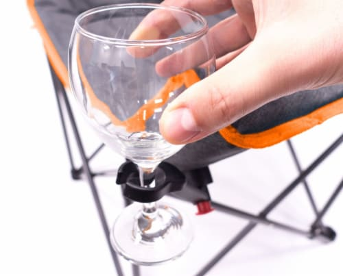Creative Outdoor Folding Bucket Wine Chair - Gray/Orange Perspective: right