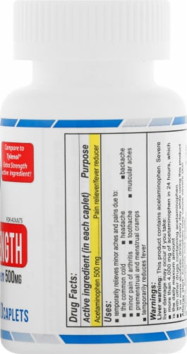 AmeriPharm Extra Strength Acetaminophen Tablets 500mg Perspective: right