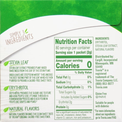 Truvia® Honestly Sweet Stevia Sweetener Perspective: right