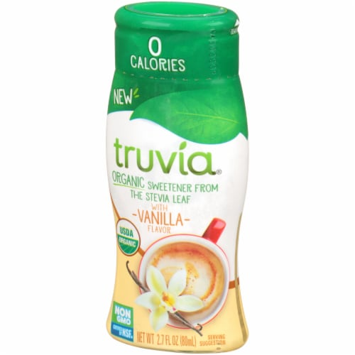 Truvia Vanilla Organic Liquid Stevia Sweetener Perspective: right
