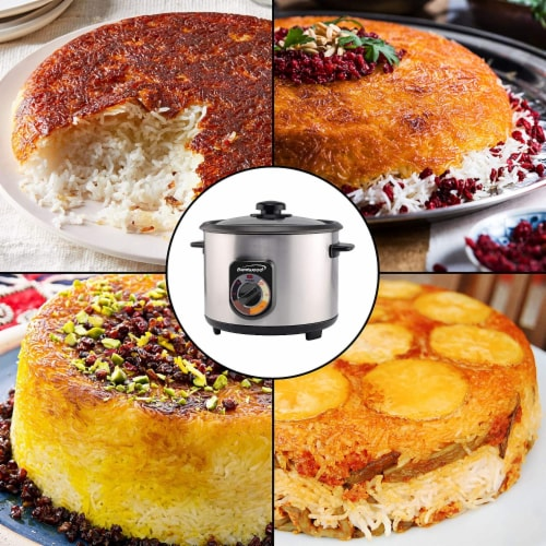 Brentwood TS-1020S 700W 20 Cup Persian Style Crunchy Tahdig Scorched Rice Cooker Perspective: right