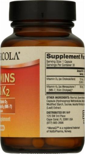 Mercola Vitamins D3 & K2 Capsules Perspective: right