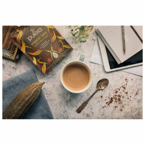 Pukka Organic Cacao Maca Majesty Latte Herbal Drink Perspective: right