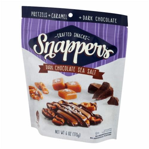 Snappers Dark Chocolate Sea Salt Caramel Pretzels Perspective: right