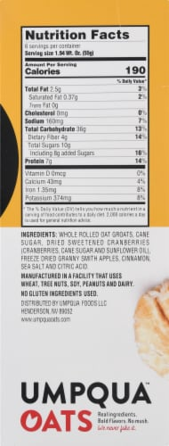 Umpqua Oats Insane Grains Apple Cranberry Crisp with Quinoa & Chia Oatmeal Perspective: right