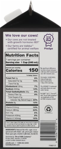 A2 Milk™ Chocolate 2% Reduced Fat Milk Perspective: right