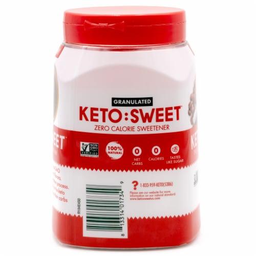 Keto:Sweet Granulated Sugar Alternative Zero Calorie Sweetener Perspective: right