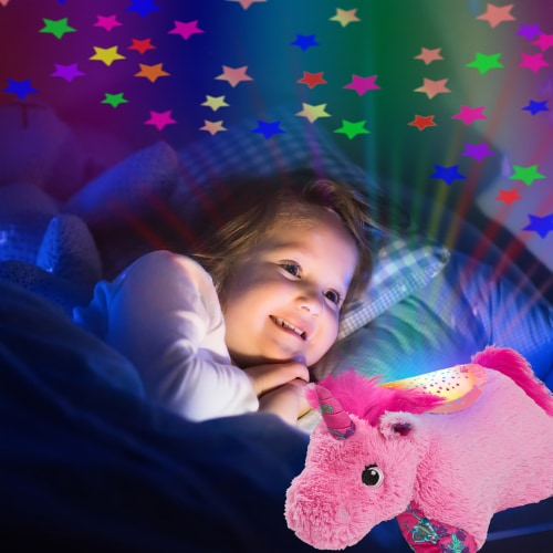 Pillow Pets Sleeptime Lite Colorful Unicorn Plush Toy - Pink Perspective: right