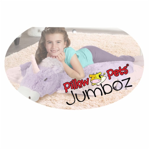 Pillow Pets Jumboz Original Magical Unicorn Plush Toy Perspective: right