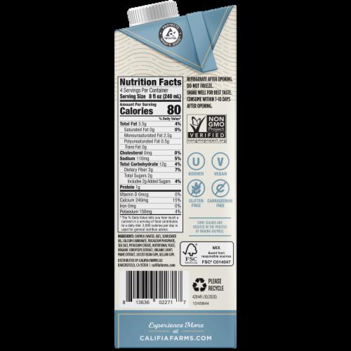 Califia Farms Non-Dairy Mushroom Oat Barista Blend Oatmilk Perspective: right