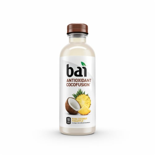 Bai Cocofusion Puna Coconut Pineapple Antioxidant Infused Beverage Perspective: right