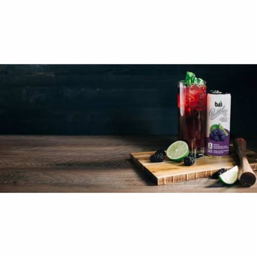 Bai Bubbles Bogota Blackberry Lime Sparkling Beverage Perspective: right