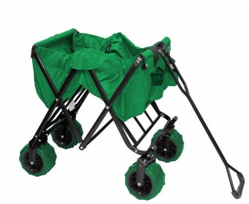 Creative Outdoor All-Terrain Folding Wagon - Green Perspective: right