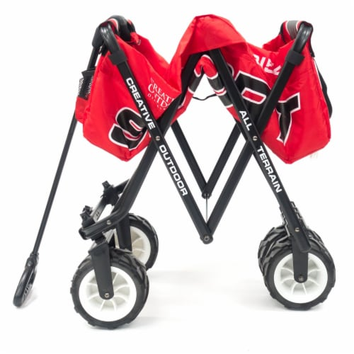 Creative Outdoor Sport All-Terrain Folding Wagon - Red Perspective: right