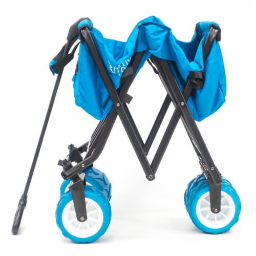 Creative Outdoor All-Terrain Folding Wagon - Blue Perspective: right