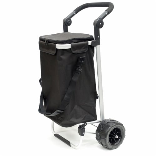 Creative Outdoor EZ Push 40L Folding Sport Trolley - Black Perspective: right